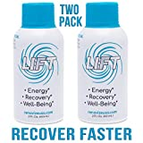 LIFT Mega Recovery, Energy & Focus Drink | BCAA Amino Acids w/ 2:1:1 Ratio for FAST Muscle Recovery | Pre, Intra & Post Workout Nootropic Supplement w/Memory, Focus & Brain Boost Blend- 2pk-2oz Shots For Sale