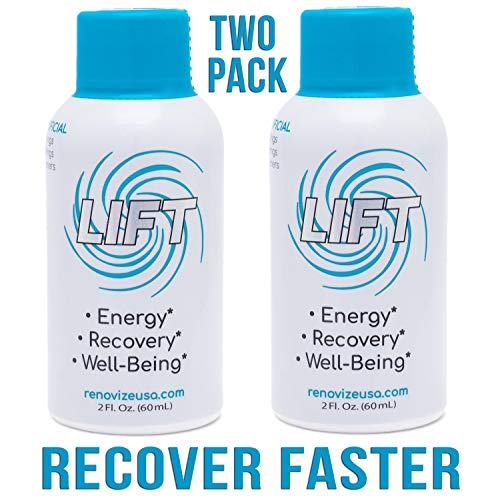 LIFT Mega Recovery, Energy & Focus Drink | BCAA Amino Acids w/ 2:1:1 Ratio for FAST Muscle Recovery | Pre, Intra & Post Workout Nootropic Supplement w/Memory, Focus & Brain Boost Blend- 2pk-2oz Shots