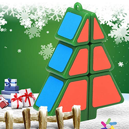 Chicflash Magic Cube 1X2X3 Christmas Tree Cube Puzzle Ultra-Smooth Magic Puzzle Xmas Gifts ()