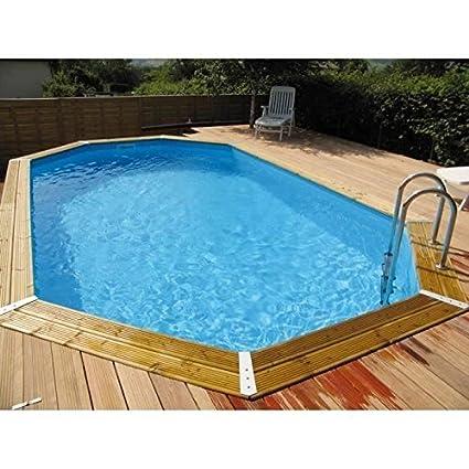Wonderful Swimming Pool Wood Jasmine 490x355xH130 Ubbink