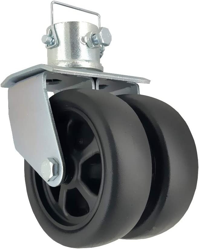 "NBJINGYI 6"" 1200lbs Dual Trailer Swirl Jack Caster Wheel with Pin fits Any Jack Better Soft Ground Roll: Automotive"