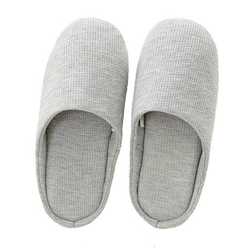 Le Migliori Pantofole Da Donna Della Casa In Tessuto Morbido Lavorato A Maglia Grigio Delle Donne Bestfo