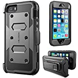 iPhone 5S Case, [Heave Duty]Slim Protection i-Blason Armorbox [Dual Layer] Hybrid Full-body Protective Case with Front Cover and Built-in Screen Protector / Impact Resistant Bumpers Cover for Apple iPhone 5 / 5S