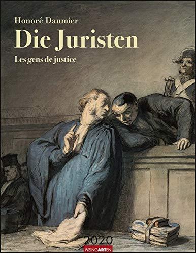 Honoré Daumier Die Juristen. Wandkalender 2020. Monatskalendarium. Spiralbindung. Format 34 X 44 Cm