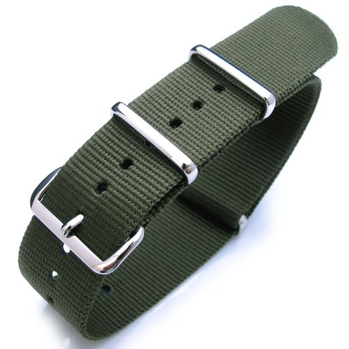 d Heavy Nylon Polished Buckle - Forest Green ()