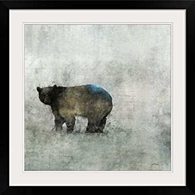 GreatBIGCanvas  Friendly Bear II  by Ken Roko Photographic Print with black Frame, 24  X 24