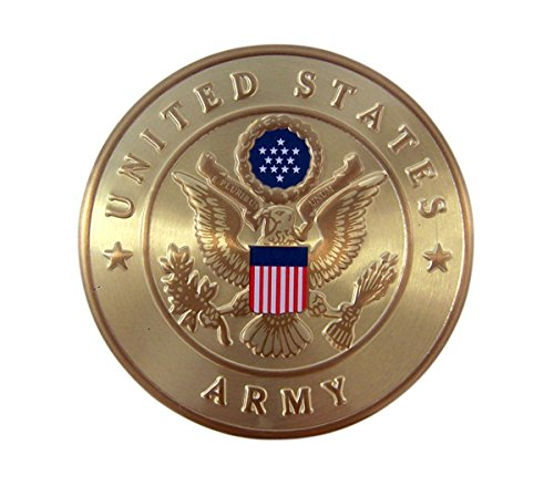 United States Army Military Metal Auto Decal Emblem, 2 Inch - United States Army Emblem