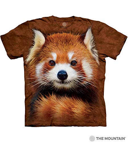 (The Mountain Red Panda Portrait Adult T-Shirt, Brown, 4XL)
