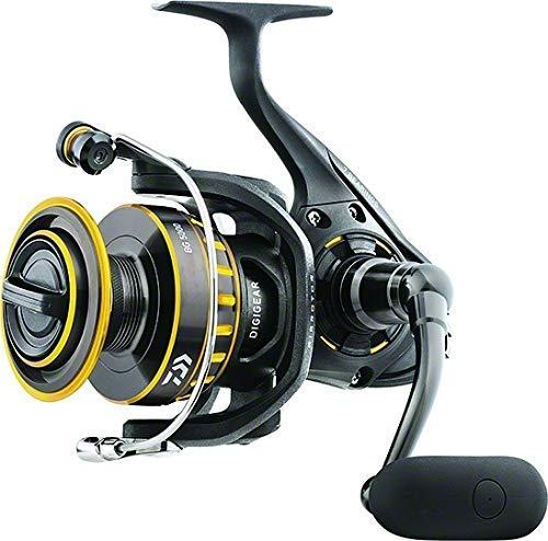 "Daiwa BG8000 BG Saltwater Spinning Reel, 8000, 5.3: 1 Gear Ratio, 6+1 Bearings, 53.30"" Retrieve Rate, 33 lb Max Drag"