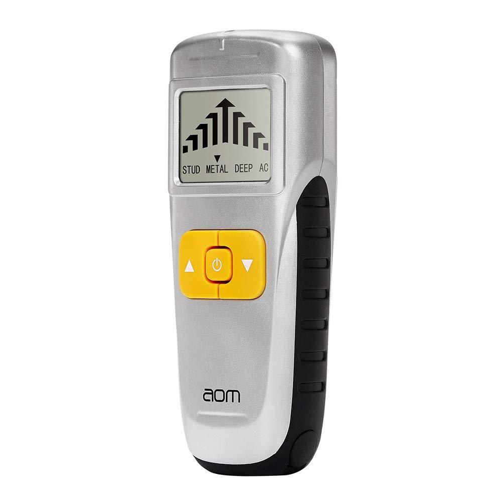 Buscador de pernos detector de pared escáner con pantalla LCD y alarma de rodamiento para madera/yeso / cable eléctrico, plateado: Amazon.es: Bricolaje y ...