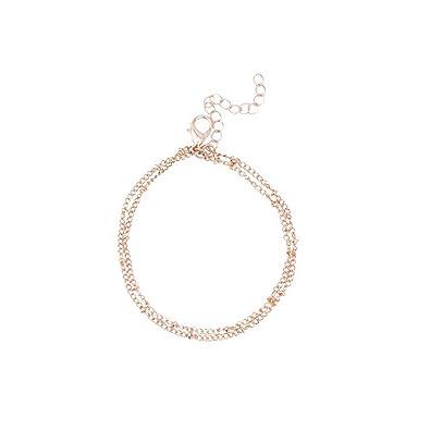 6a908f426 Amazon.com: CAIYCAI Summer Bracelets & Bangles Dainty Double-Layer  Satellite Chain Gold Bracelet Wedding Gift Gold OneSize: Jewelry