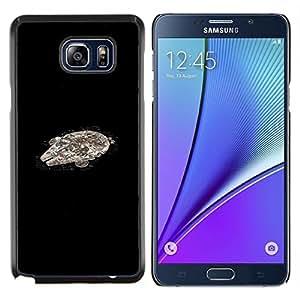 "Be-Star Único Patrón Plástico Duro Fundas Cover Cubre Hard Case Cover Para Samsung Galaxy Note5 / N920 ( Nave espacial Millenium Falcoln Guerra de las Galaxias"" )"