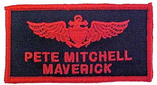 Maverick Top Gun Costumes - Top Gun Flight Badge for Halloween Costumes (MAVERICK)