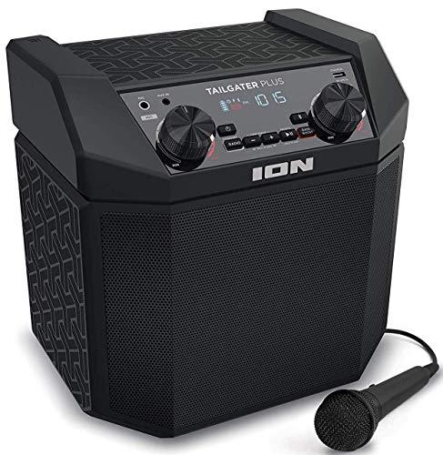 iOn Audio Tailgater Plus – 50W Draagbare Bluetooth Luidspreker Systeem met Easy-Pair, Ingebouwde Oplaadbare Batterij, AM…