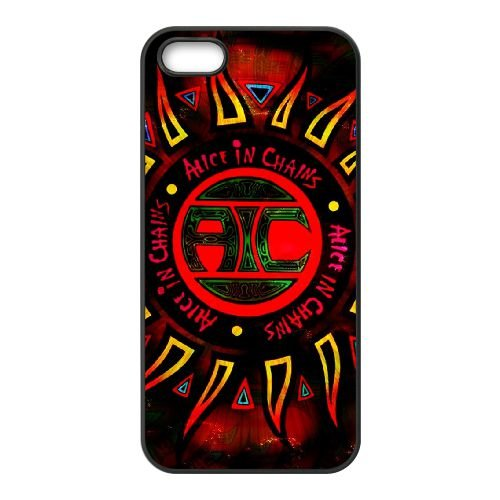 Alice In Chains 007 coque iPhone 5 5S cellulaire cas coque de téléphone cas téléphone cellulaire noir couvercle EOKXLLNCD21507