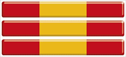 Artimagen Pegatina Bandera Rectángulo Fino Pequeño España 3 uds ...