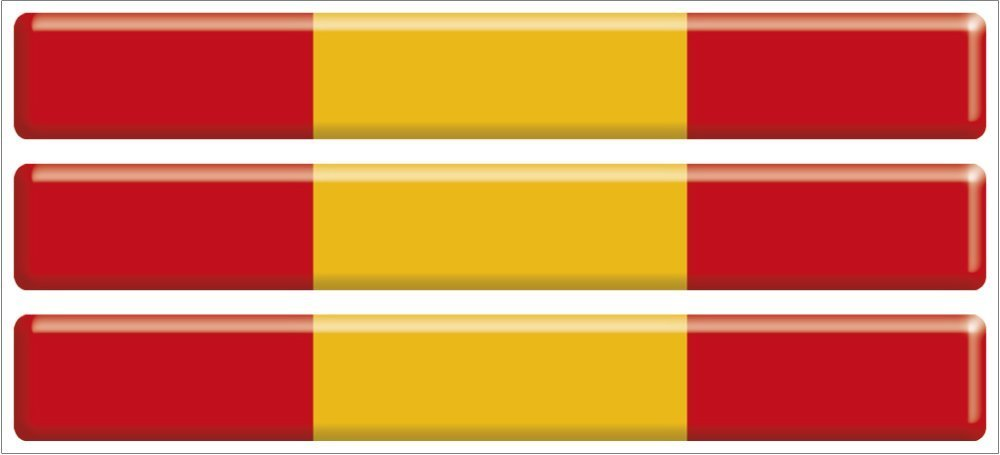 Artimagen Pegatina Bandera Ondeante Navarra 80x60 mm.