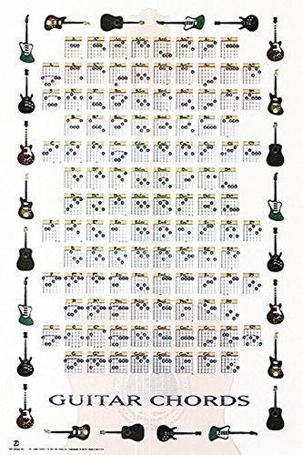 "Trends International Guitar Chords Wall Poster 22.375"" x 34"""