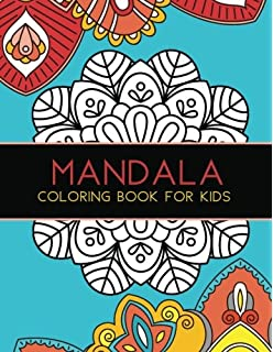 Mandala Coloring Book For Kids Big Mandalas To Color Relaxation 1