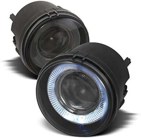 For 2005-2009 Dodge Charger Nitro Caravan Caliber 2007-2008 Compass Partiot Smoked Halo Projector Fog Lights