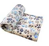 Cyber Monday Freerun Pet Dog Cat Soft Warm Bed Blanket Mat Paw Print Custhion (Coffee, M)