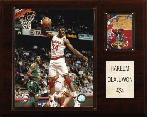 NBA Hakeem Olajuwon Houston Rockets Player Plaque