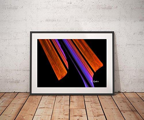 Abstract art print, fine art print, fractal art, geometric art (Brushstrokes Fine Art Painting)
