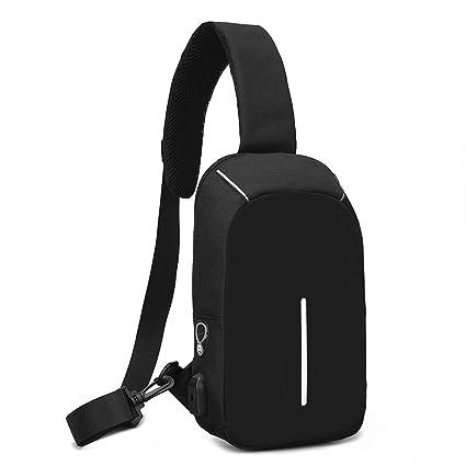 2726d864755f8 Vodun Chest Sling Shoulder Backpacks Bags with USB Charging Port    Headphone Interface Crossbody Shoulder Bag Outdoor Casual Men s  bagMultipurpose Daypacks ...