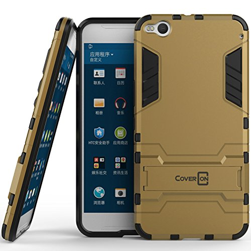 - HTC One X9 Case, CoverON [Shadow Armor Series] Hard Slim Hybrid Kickstand Phone Cover Case for HTC One X9 - Gold