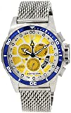 Invicta 80267 Mens Specialty Stainless Steel Case Mesh Bracelet Yellow Tone Dial Chronograph Alarm GMT Watch