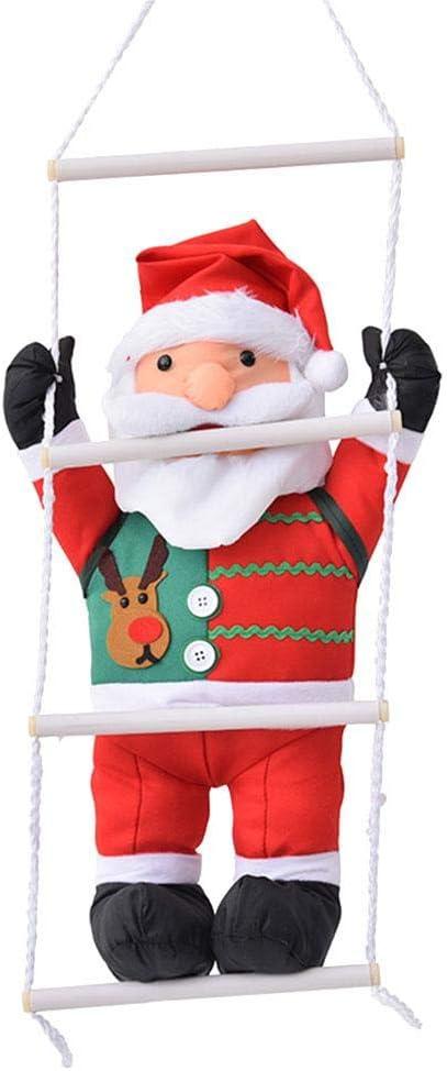 LiféUP Escalera de Cuerda de Escalada Columpio Papá Noel Decoraciones navideñas Colgante de muñeca de Papá Noel al Aire libre-60CM: Amazon.es: Deportes y aire libre
