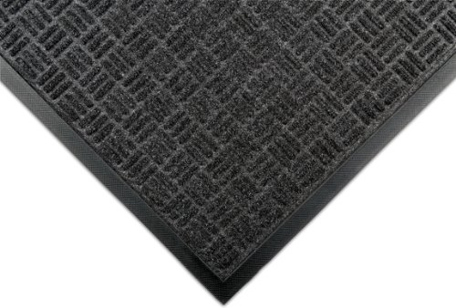 Notrax 167 Portrait Entrance Mat, for Lobbies and Indoor Entranceways, 3' Width x 5' Length x 1/4 Thickness, Charcoal Notrax Floor Matting