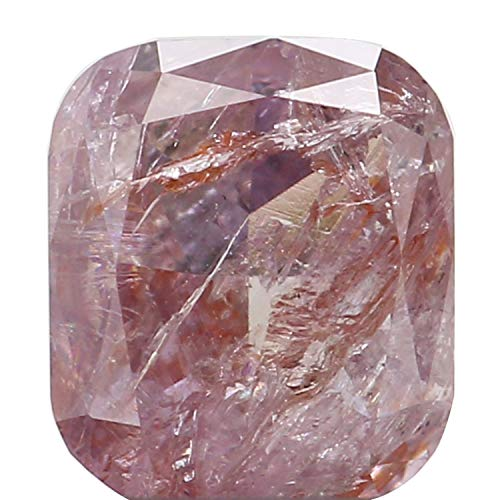 Narshiha Natural Loose Diamond Cushion Pink Color I3 Clarity 4.00 MM 0.28 Ct N8163 ()