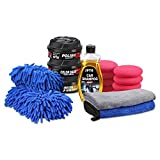 SPTA 18 PCS Ultimate Car Care Kit Premium Detailing Kit with Car Shampoo Wax Microfiber Towels Tire Applicator Sponge - Cleaning Supplies for Car Boat RV & Motorcycle