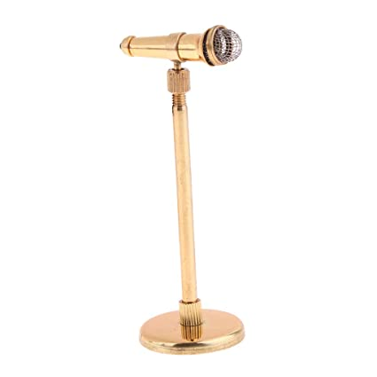 Amazon.es: FLAMEER Modelo Micrófono en Miniatura Música Accesorios ...