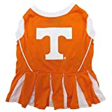 Pets First Collegiate Tennessee Volunteers Dog Cheerleader Dress - Medium