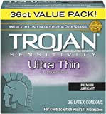 Trojan Ultra Thin Latex Condoms, 36 count
