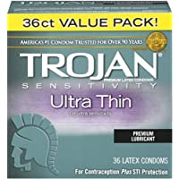 Trojan Ultra Thin Latex Condoms, 36 count