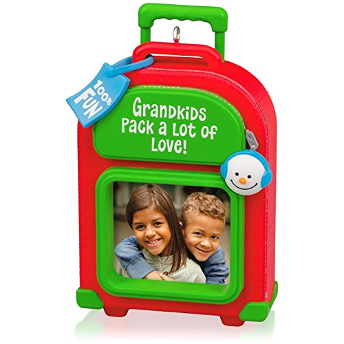 Hallmark QGO1289 Grandkids Luggage Photo Holder Ornament