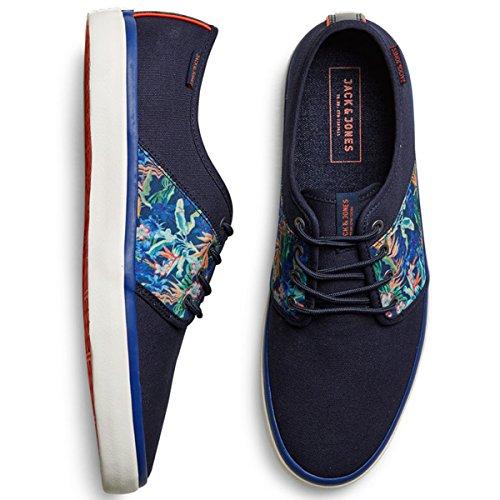 Jack & Jones - JJ Turbo Canvas Print - Sneaker - div. Farben (41, Navy Blazer (Blau))