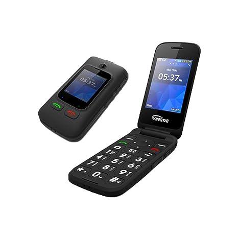 YHHK Teléfonos Celulares Abiertos del Tirón para Personas ...