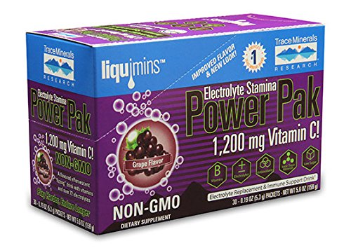 Electrolyte Stamina Power Pak, Concord Grape 30 pk by Trace Minerals