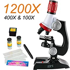 AmScope-Kid Microscope will teach children to work with adults on how to analyze subjects of all matter using this basic science microscope kit. Kids can use this educational microscope to collect, observe, analyze specimens, and record findings on t...