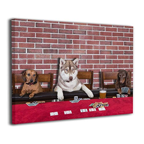 TREEWw Three Dogs Playing Poker Canvas Paintings Printed Wall Decorations 20