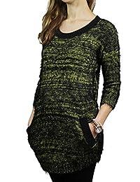 Lark Black, Mustard & Gold Eyelash Weave Tunic Sweater Style AS-L247