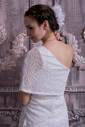 leger Brautkleider moderne Abendkleid GEORGE kurze Weiß Hochzeitskleid BRIDE Hochzeitskleider neue vx0RwvqtS