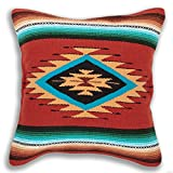 Serape Throw Pillow Cover, 18 X 18, Hand Woven in Southwest and Native American Styles. 4