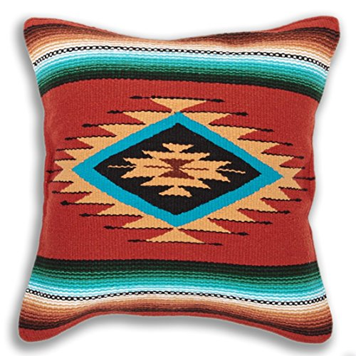 (El Paso Designs Serape Throw Pillow Cover, 18 X 18, Hand Woven in Southwest and Native American Styles. 4)