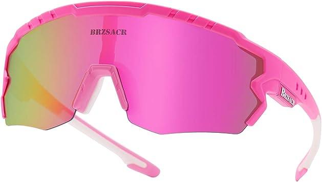 ACS1986 Gafas De Sol Polarizadas para Ciclismo, UV 400 Protección Gafas Deportivas Polarizadascon 3 Lentes Intercambiables UV400 MTB Bicicleta Montaña para Hombre Mujer 2019 Nuevo. (Rosa): Amazon.es: Deportes y aire libre