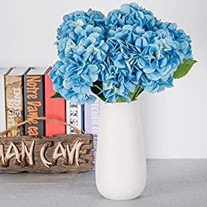 TYEERDEC Artificial Flowers Hydrangea Silk Flowers Fake Flowers for Wedding Home Garden Hotel Party Decoration Pack of 1 - Blue 1